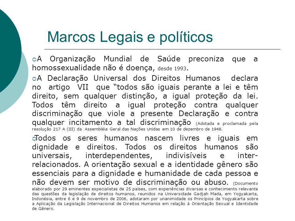 Marcos Legais e políticos