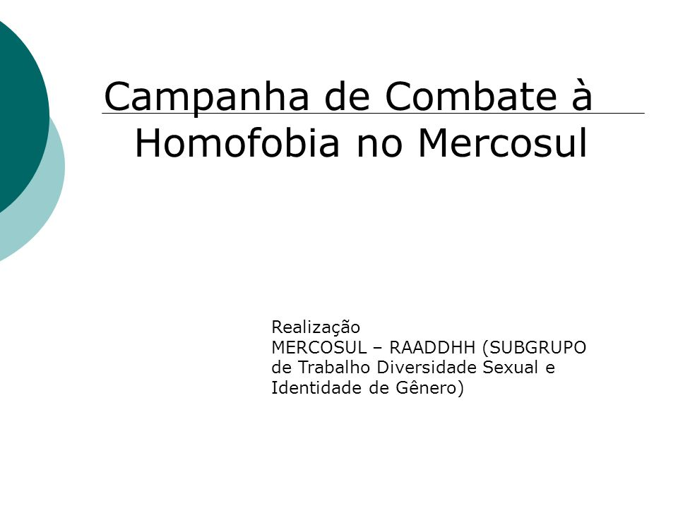 Campanha de Combate à Homofobia no Mercosul