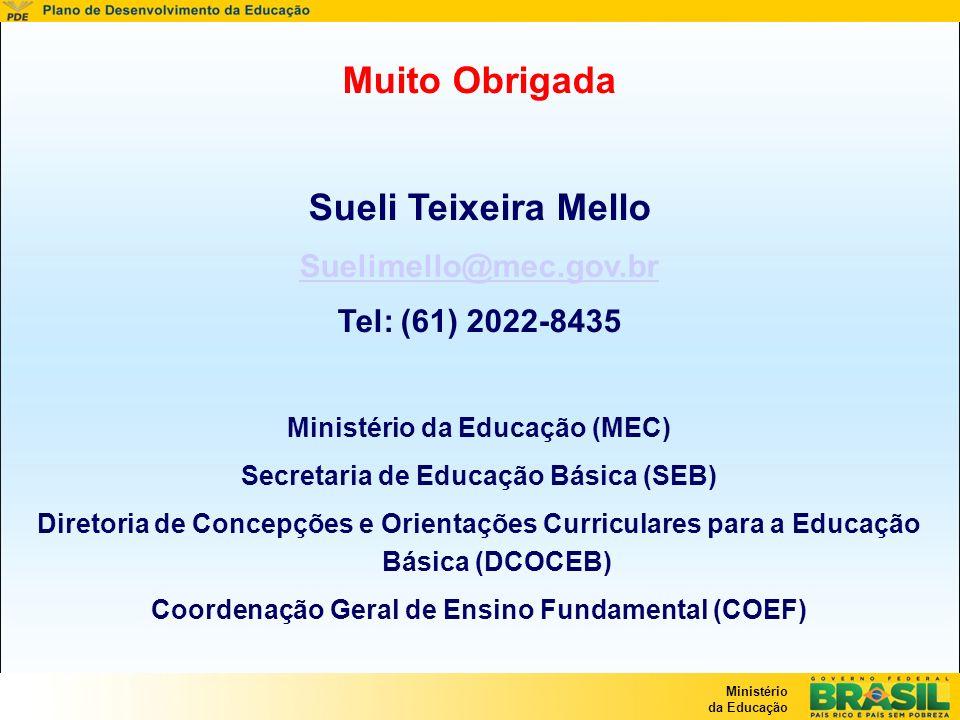 Muito Obrigada Sueli Teixeira Mello