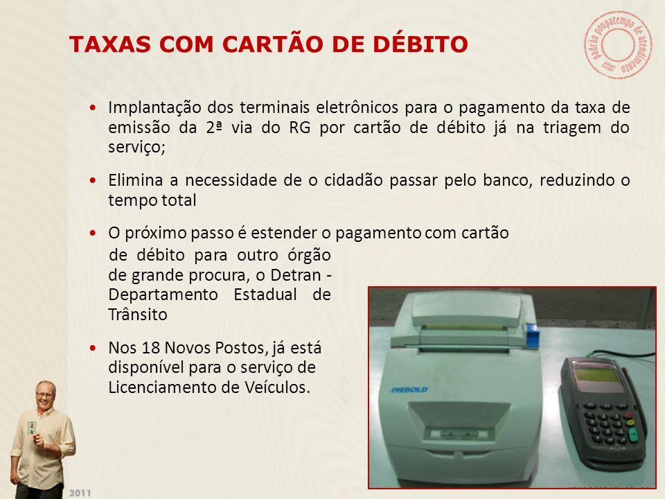TAXAS COM CARTÃO DE DÉBITO
