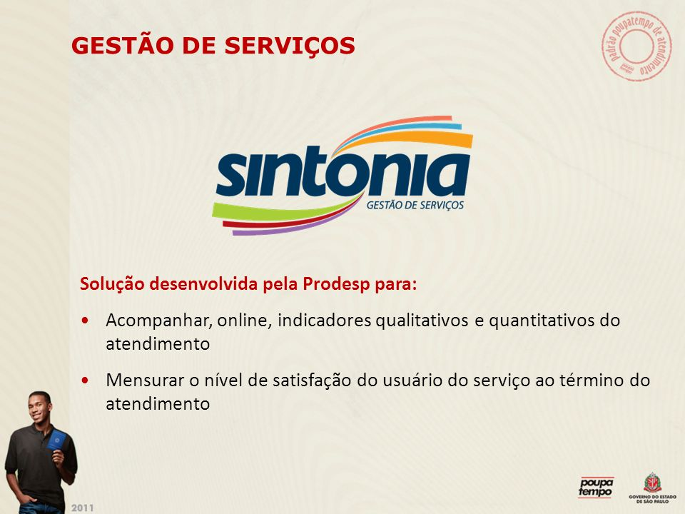 GESTÃO DE SERVIÇOS Solução desenvolvida pela Prodesp para:
