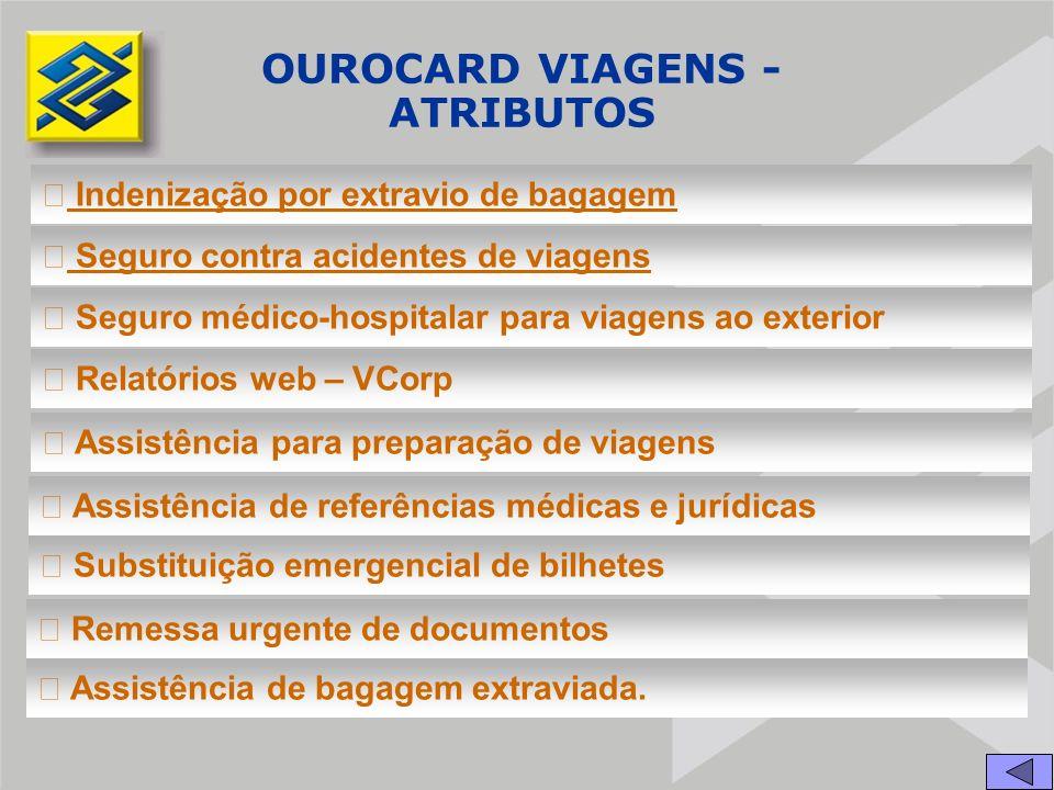 OUROCARD VIAGENS - ATRIBUTOS