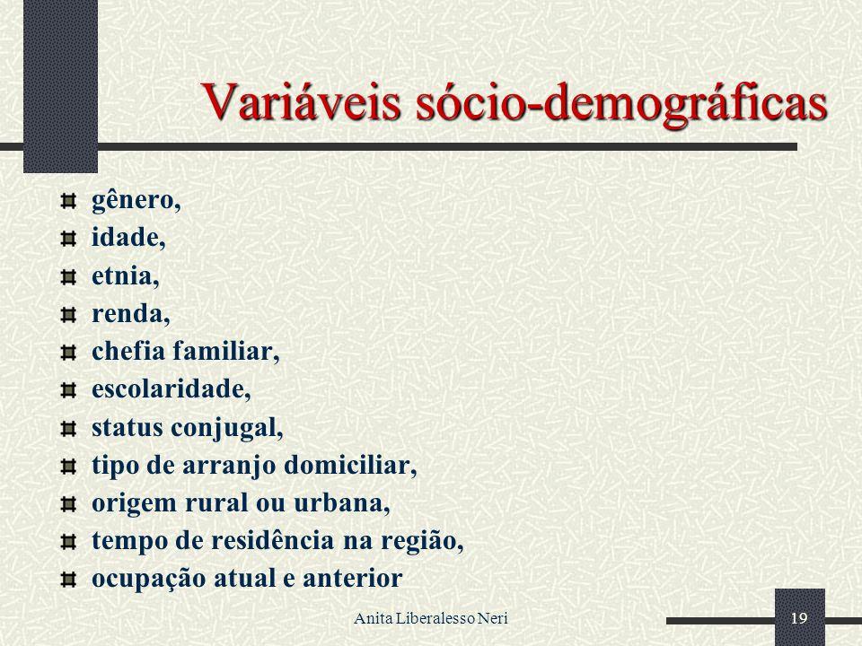 Variáveis sócio-demográficas