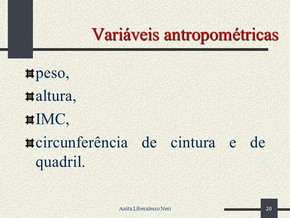 Variáveis antropométricas