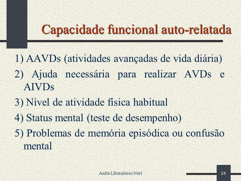 Capacidade funcional auto-relatada