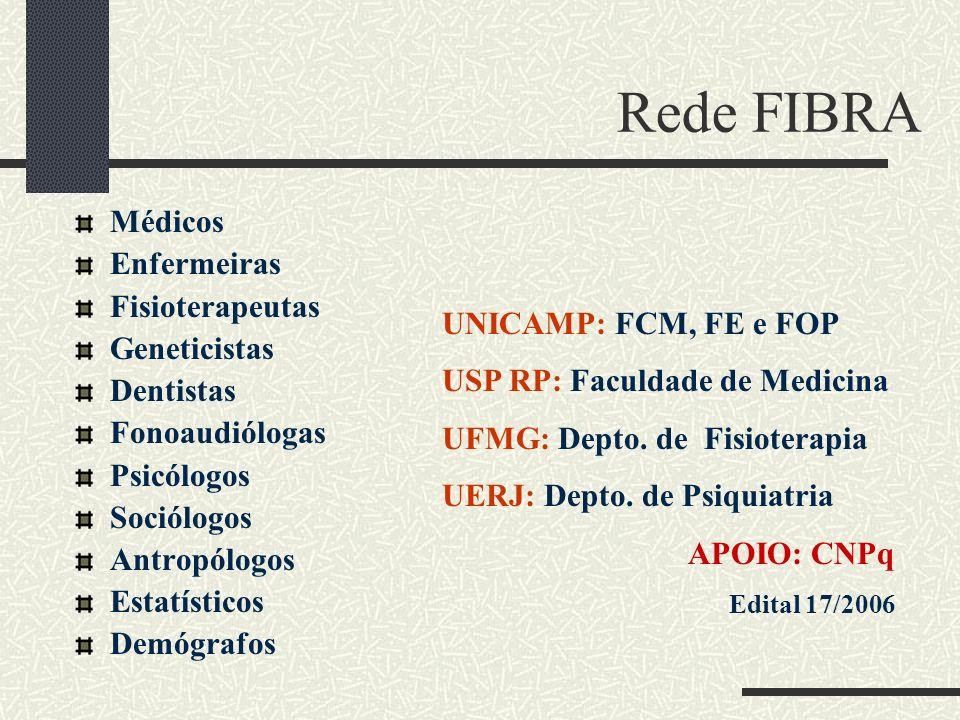 Rede FIBRA Médicos Enfermeiras Fisioterapeutas Geneticistas