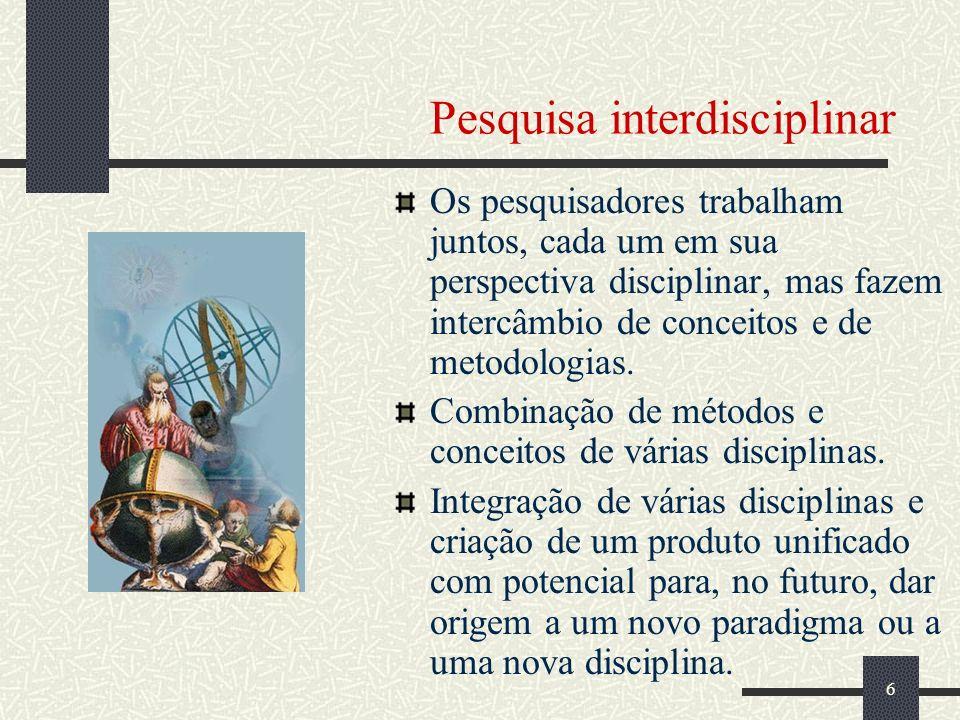 Pesquisa interdisciplinar