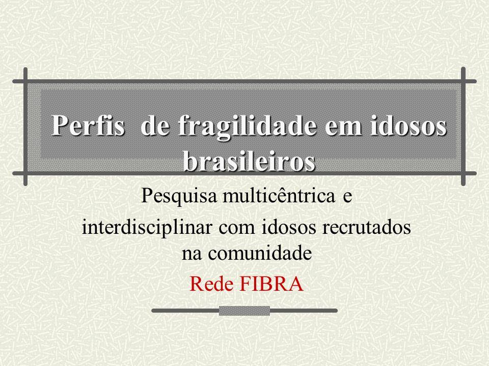 Perfis de fragilidade em idosos brasileiros