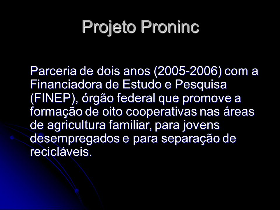 Projeto Proninc