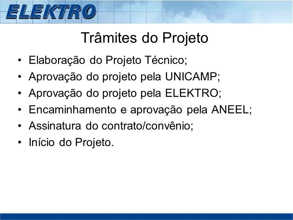 Trâmites do Projeto Elaboração do Projeto Técnico;