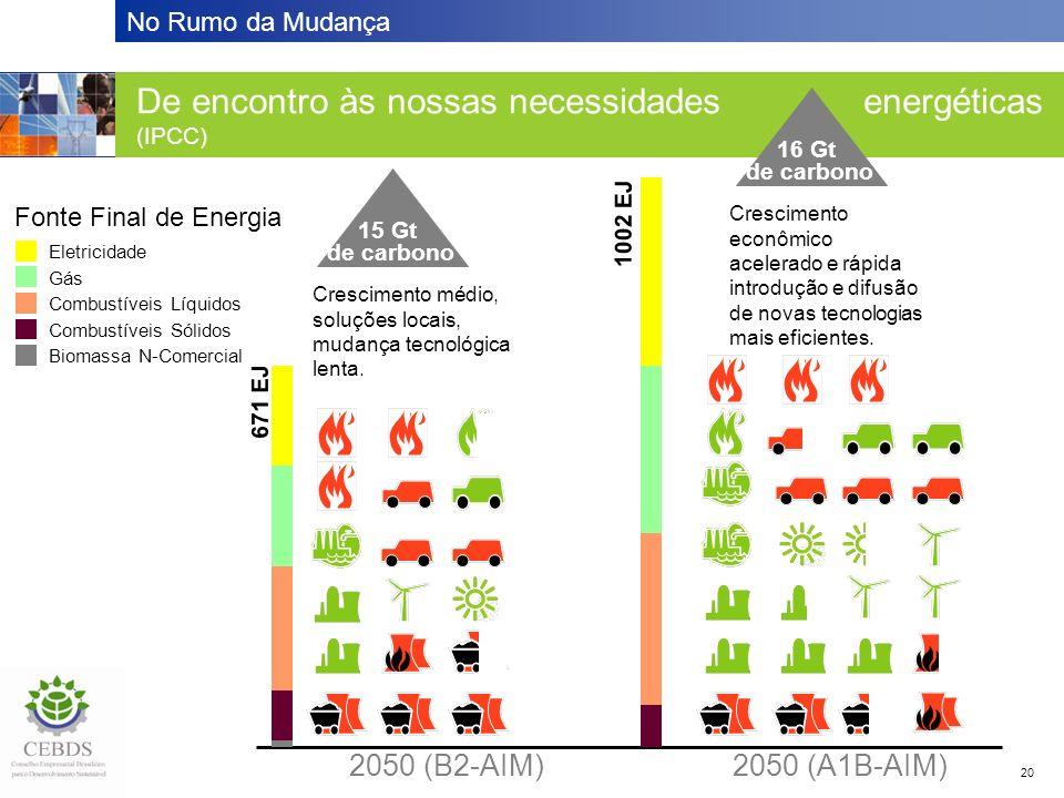 De encontro às nossas necessidades energéticas (IPCC)