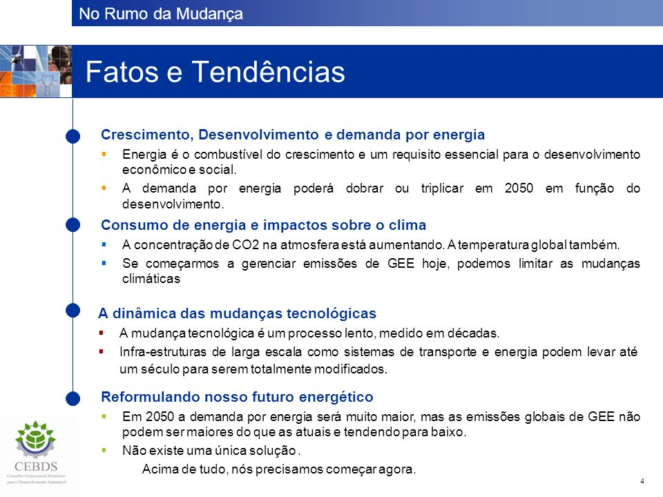 Fatos e Tendências The issue at a glance . . .