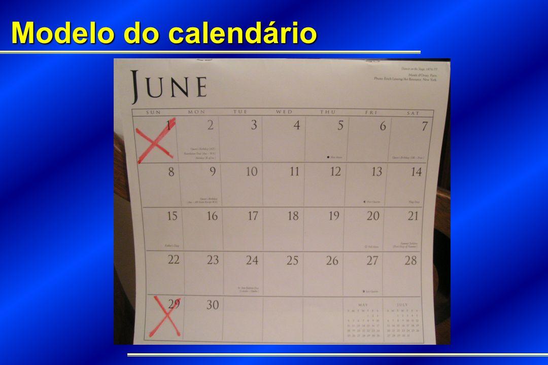 Modelo do calendário