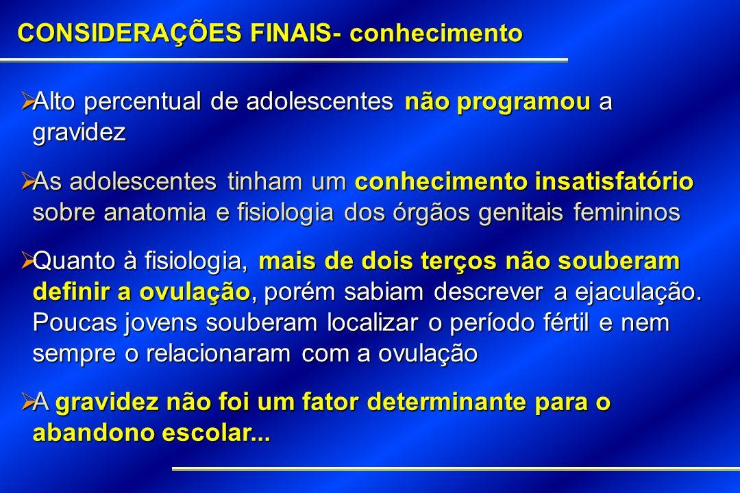 CONSIDERAÇÕES FINAIS- conhecimento