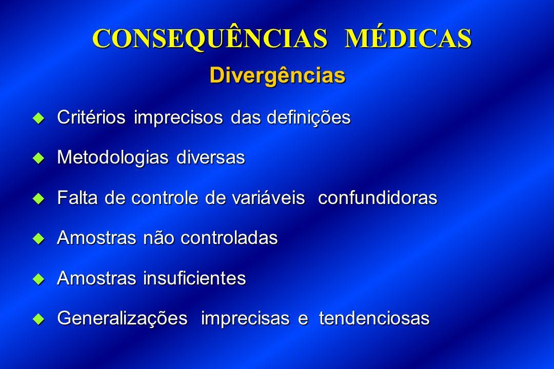CONSEQUÊNCIAS MÉDICAS