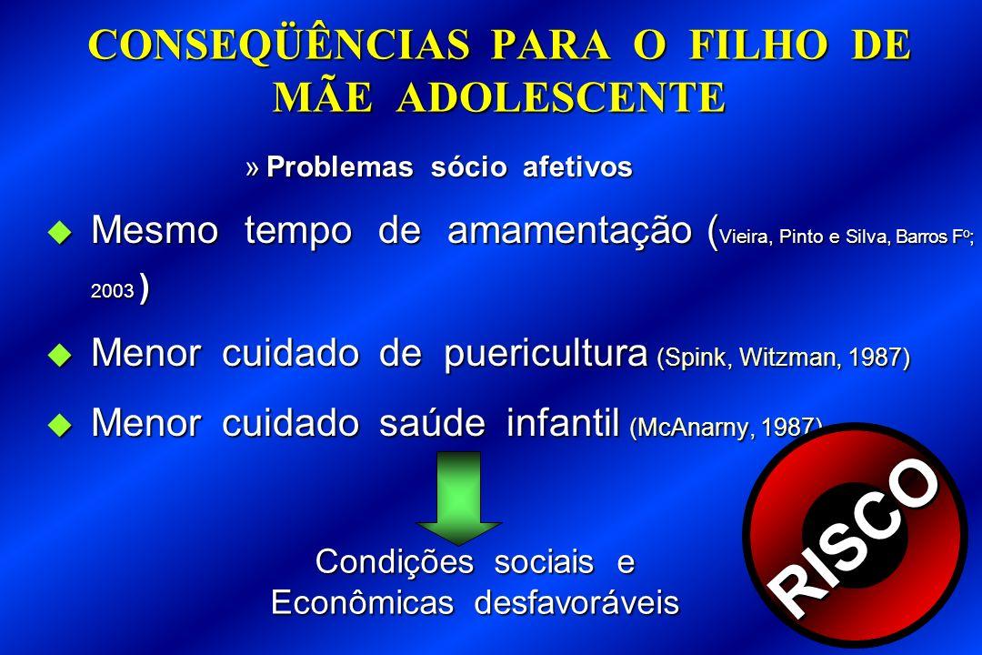 CONSEQÜÊNCIAS PARA O FILHO DE MÃE ADOLESCENTE