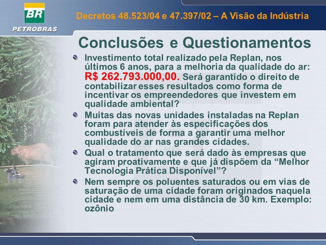 Conclusões e Questionamentos