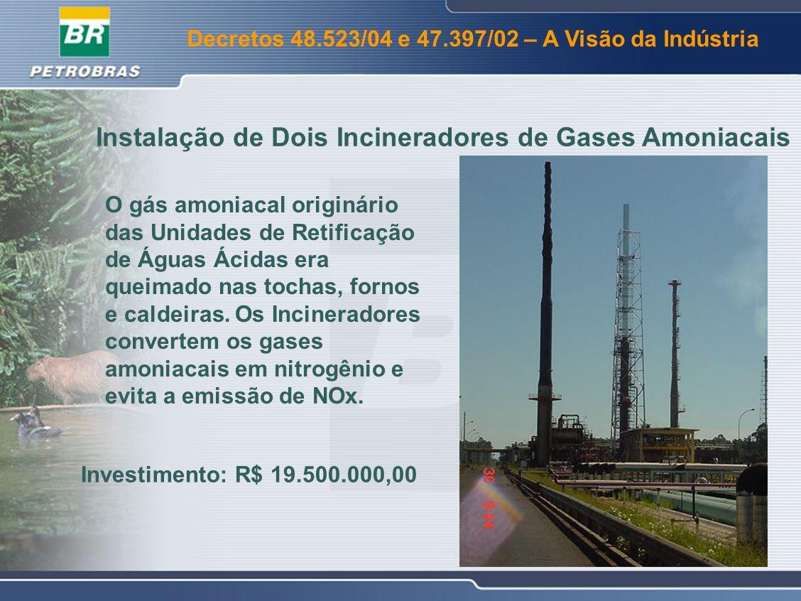 Instalação de Dois Incineradores de Gases Amoniacais