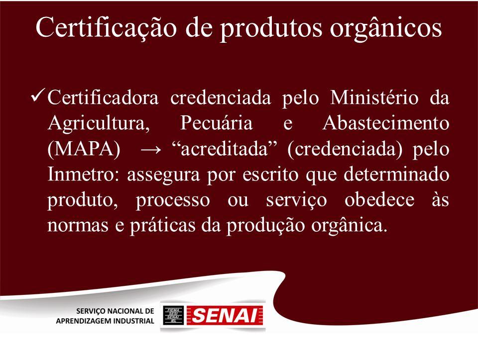Certificação de produtos orgânicos
