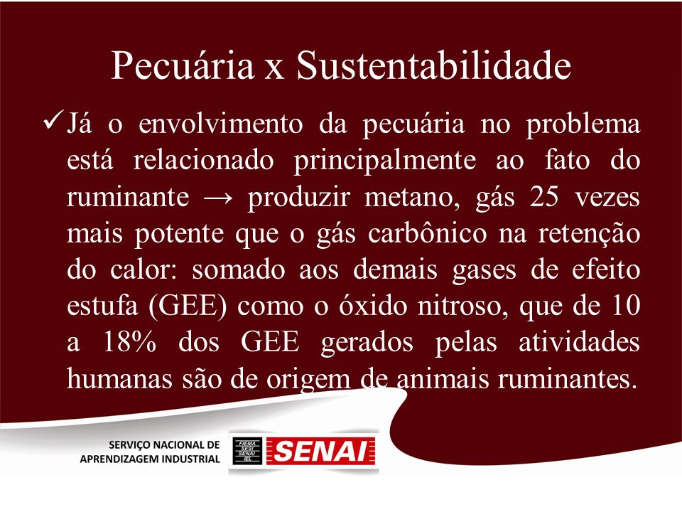 Pecuária x Sustentabilidade