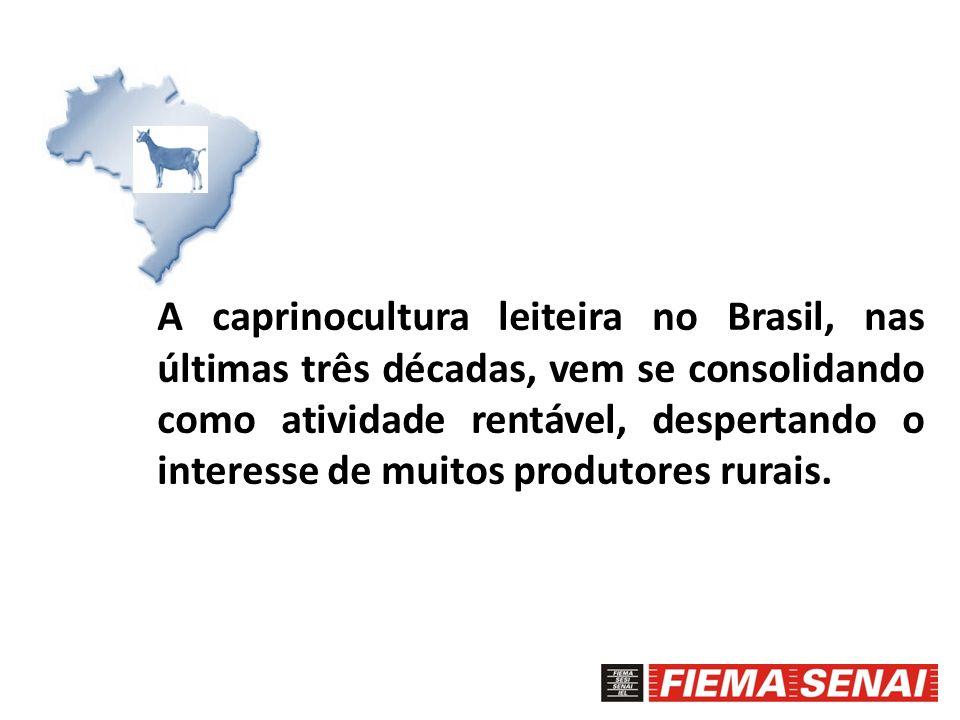 A caprinocultura leiteira no Brasil, nas últimas três décadas, vem se consolidando como atividade rentável, despertando o interesse de muitos produtores rurais.