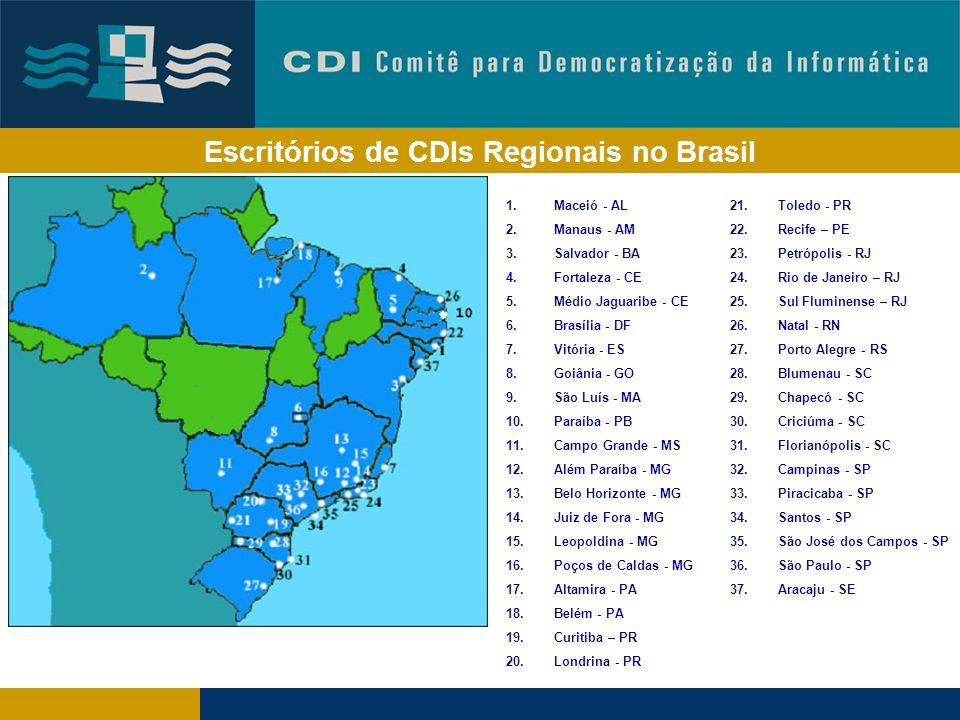 Escritórios de CDIs Regionais no Brasil