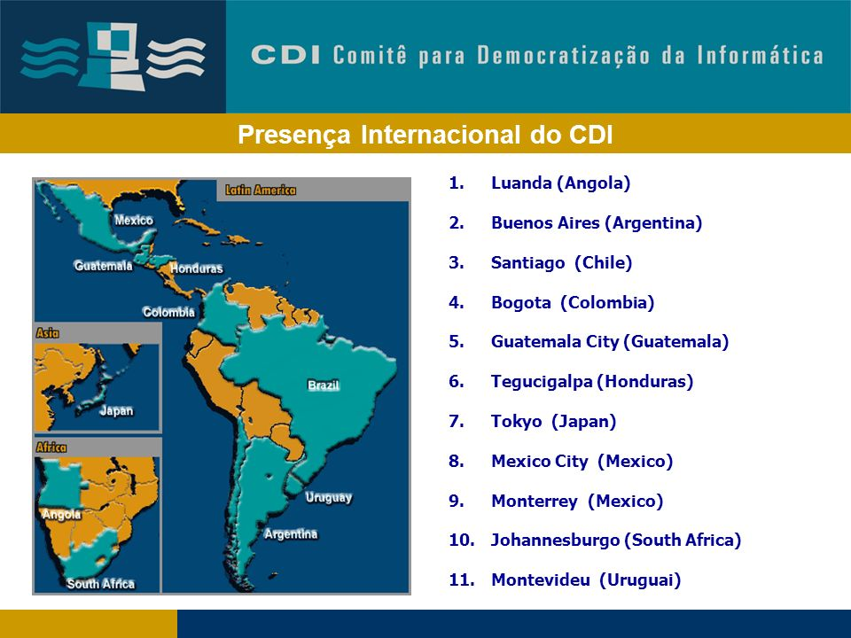 Presença Internacional do CDI
