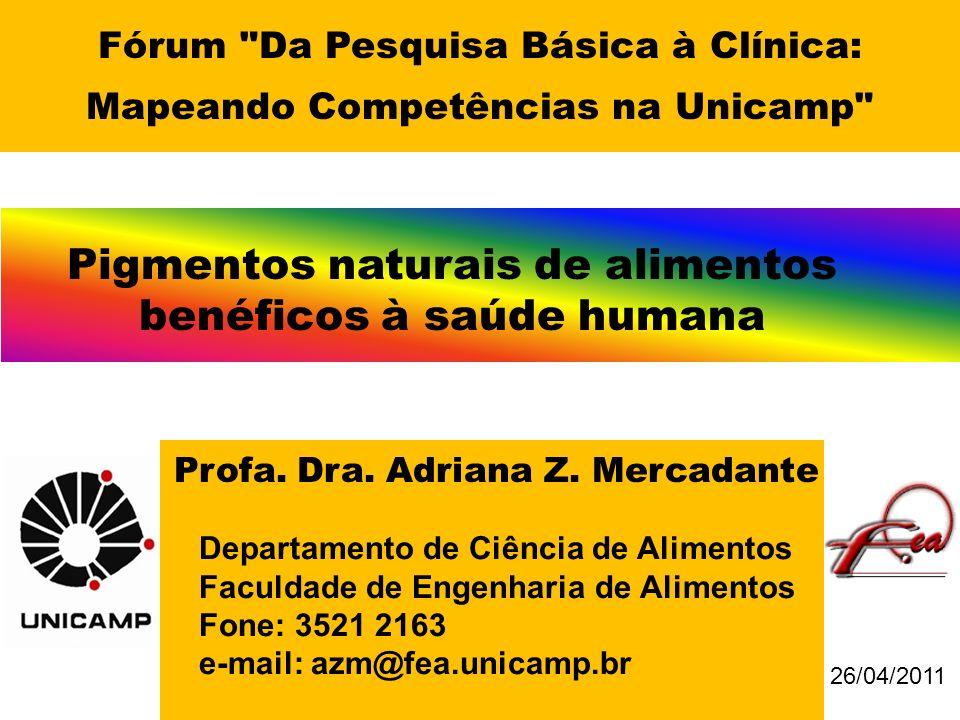 Pigmentos naturais de alimentos benéficos à saúde humana