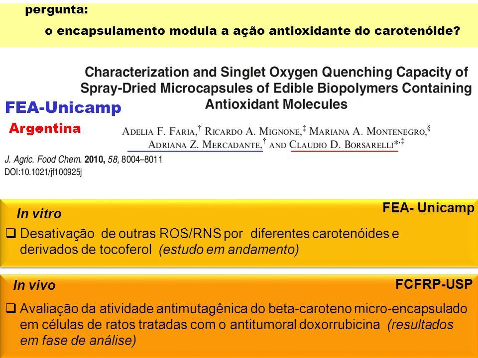 FEA-Unicamp Argentina FEA- Unicamp In vitro