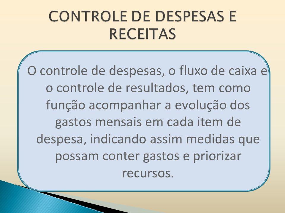 CONTROLE DE DESPESAS E RECEITAS