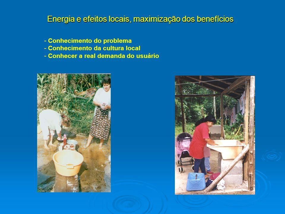 Energia e efeitos locais, maximização dos benefícios
