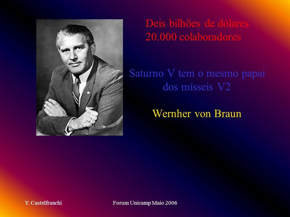 Saturno V tem o mesmo papai dos mísseis V2 Wernher von Braun