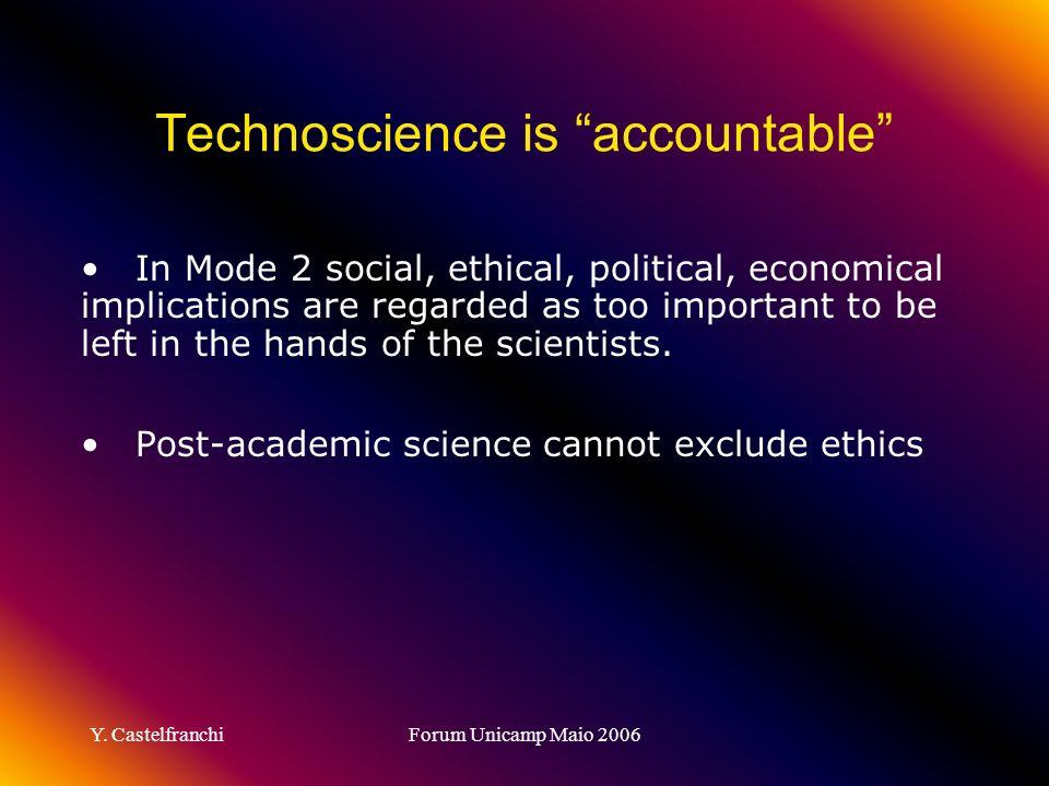 Technoscience is accountable