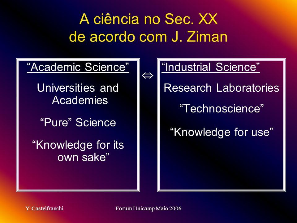 A ciência no Sec. XX de acordo com J. Ziman