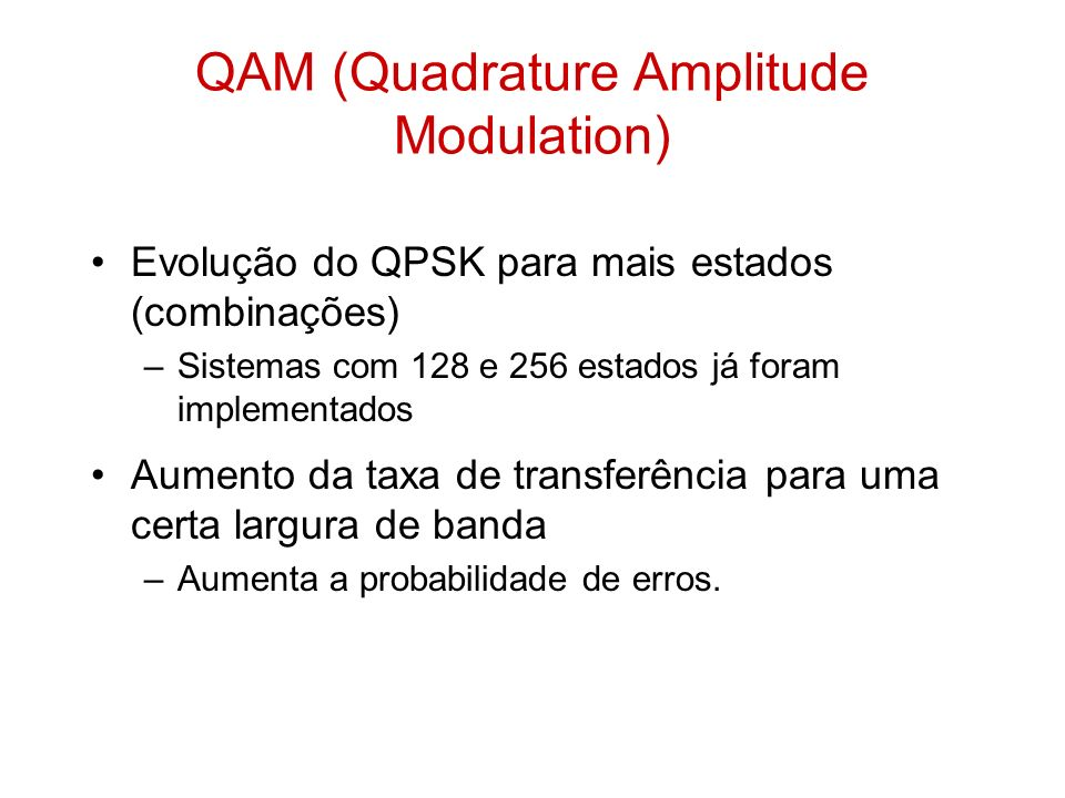 QAM (Quadrature Amplitude Modulation)