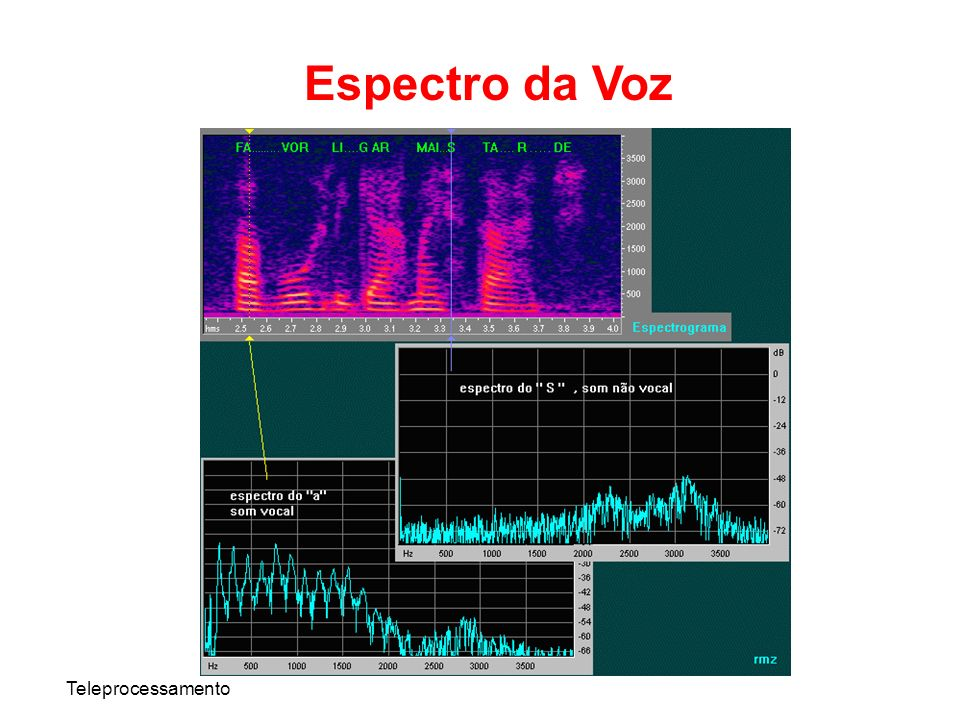 Espectro da Voz Teleprocessamento