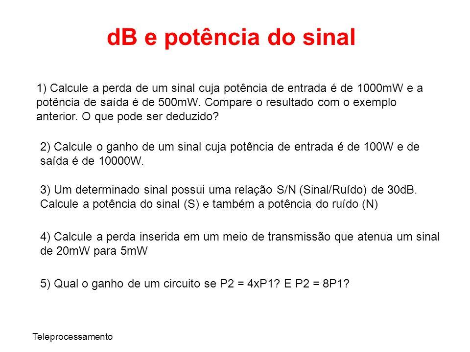 dB e potência do sinal