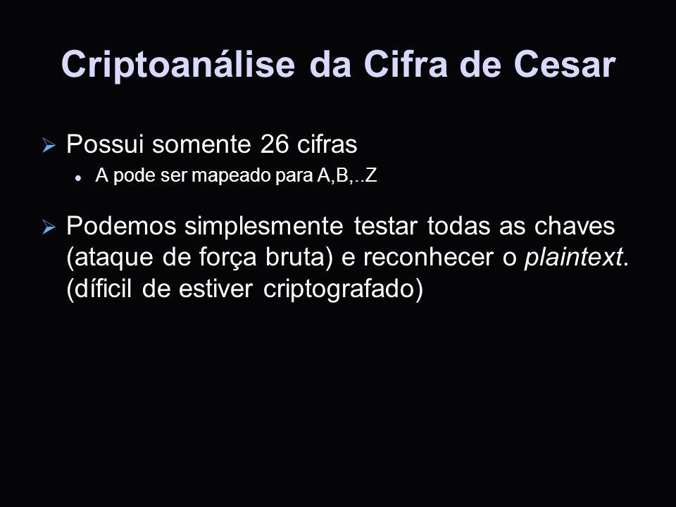 Criptoanálise da Cifra de Cesar