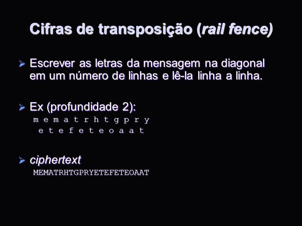 Cifras de transposição (rail fence)