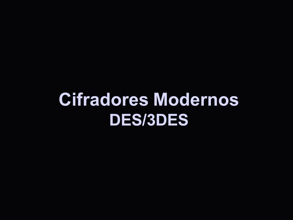 Cifradores Modernos DES/3DES