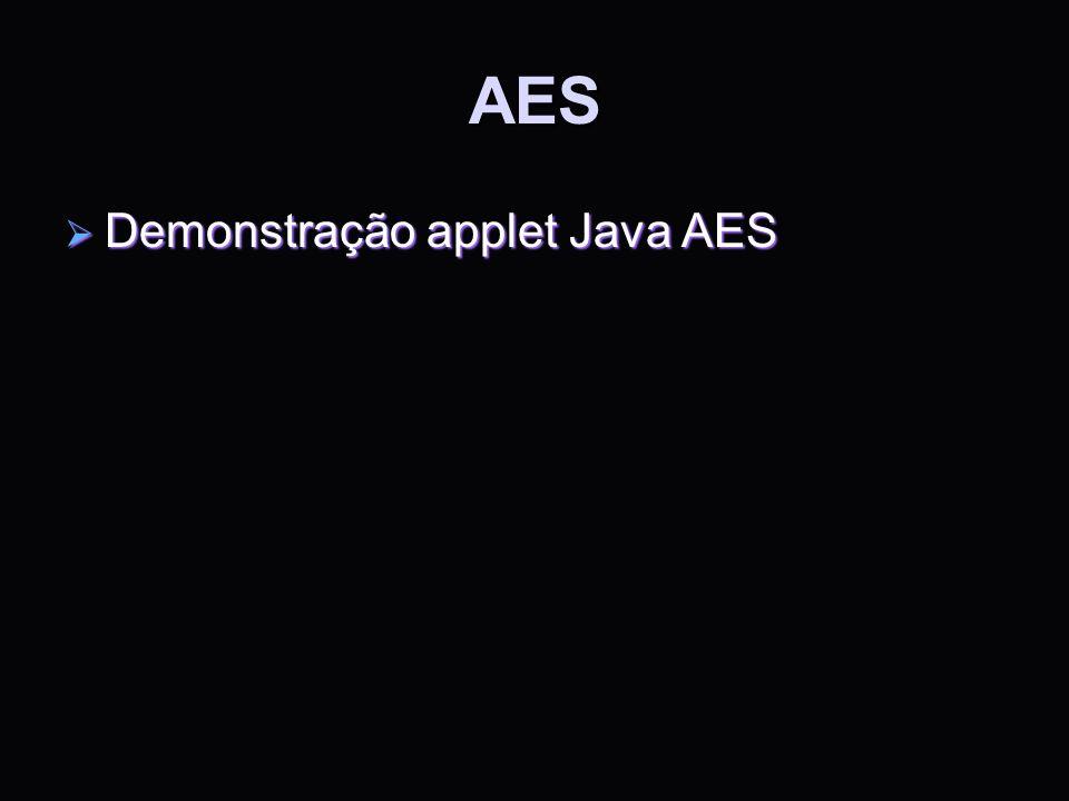 AES Demonstração applet Java AES