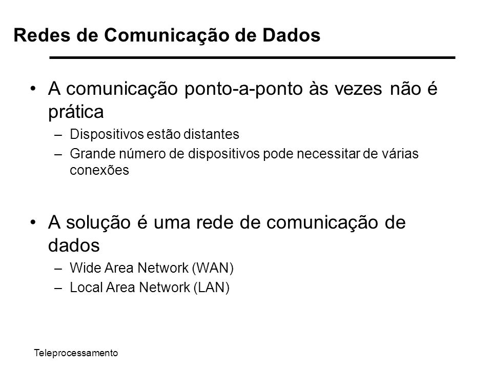 Redes de Comunicação de Dados