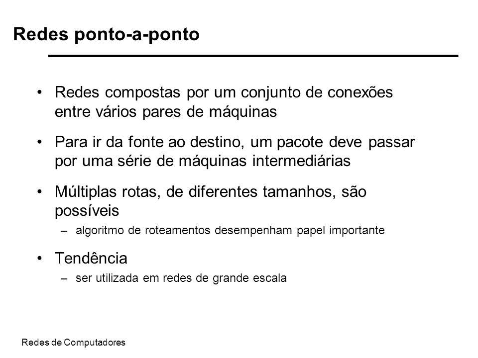 Redes ponto-a-pontoRedes compostas por um conjunto de conexões entre vários pares de máquinas.