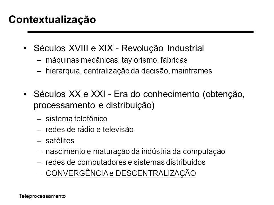 Contextualização Séculos XVIII e XIX - Revolução Industrial