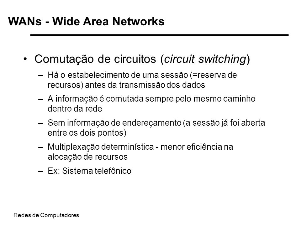 WANs - Wide Area Networks