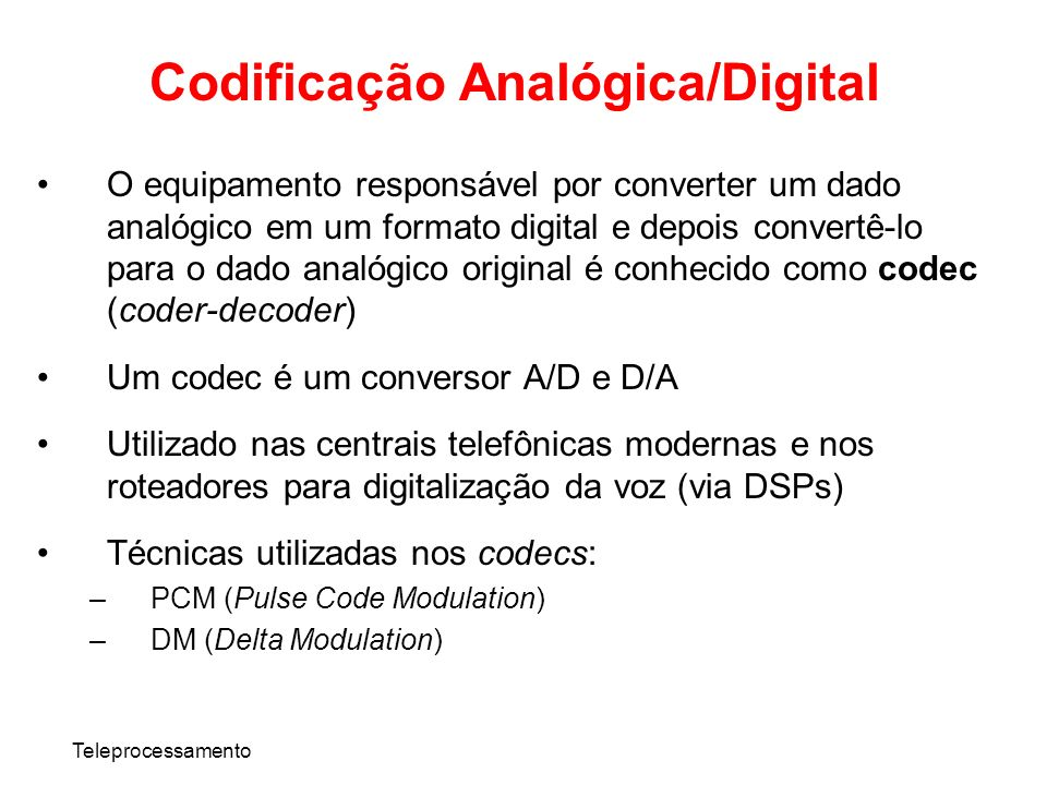 Codificação Analógica/Digital