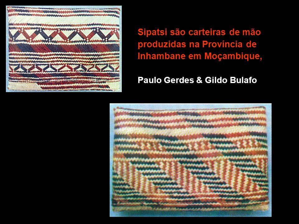 Sipatsi são carteiras de mão produzidas na Província de Inhambane em Moçambique, Paulo Gerdes & Gildo Bulafo
