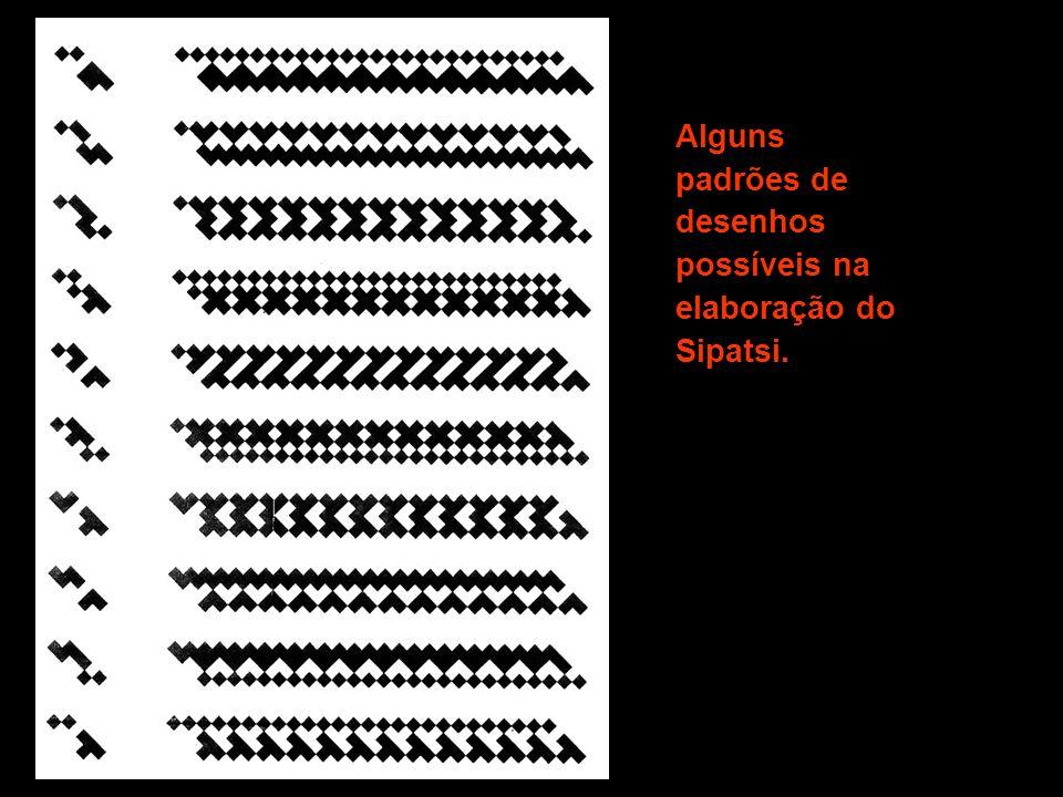 Alguns padrões de desenhos possíveis na elaboração do Sipatsi.