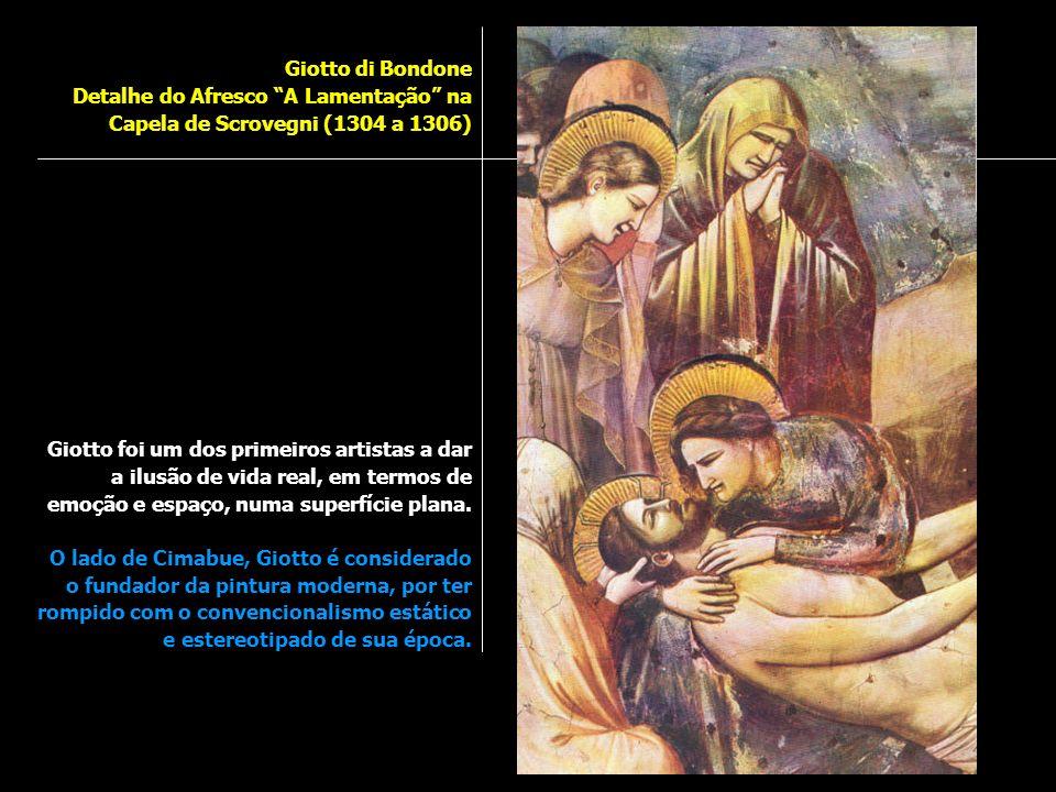 Giotto di Bondone Detalhe do Afresco A Lamentação na Capela de Scrovegni (1304 a 1306)