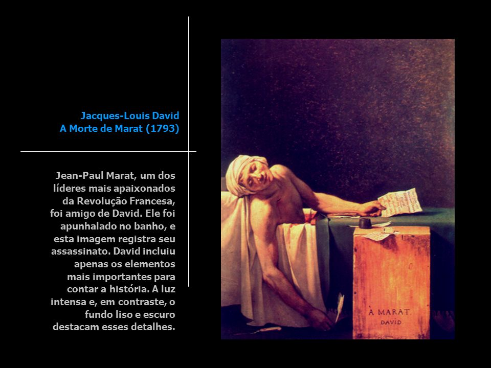 Jacques-Louis David A Morte de Marat (1793)